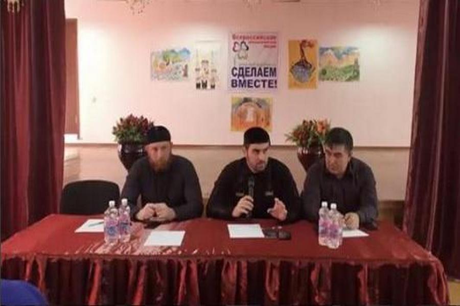 Глава одного из районов Чечни встретился со школьниками