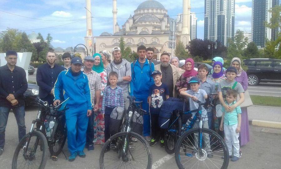 В Грозный прибыли участники велопробега «Дружба народов»