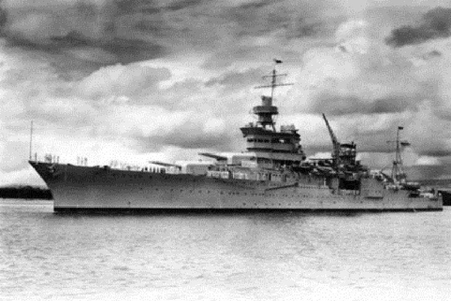 В Тихом океане обнаружили затопленный в 1945 году американский крейсер