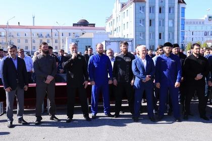 В Грозном отметили победу Рамзана Кадырова