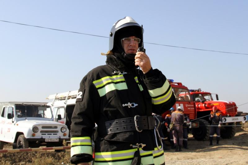 В Грозном прошли масштабные учения по спасению людей и тушению пожара