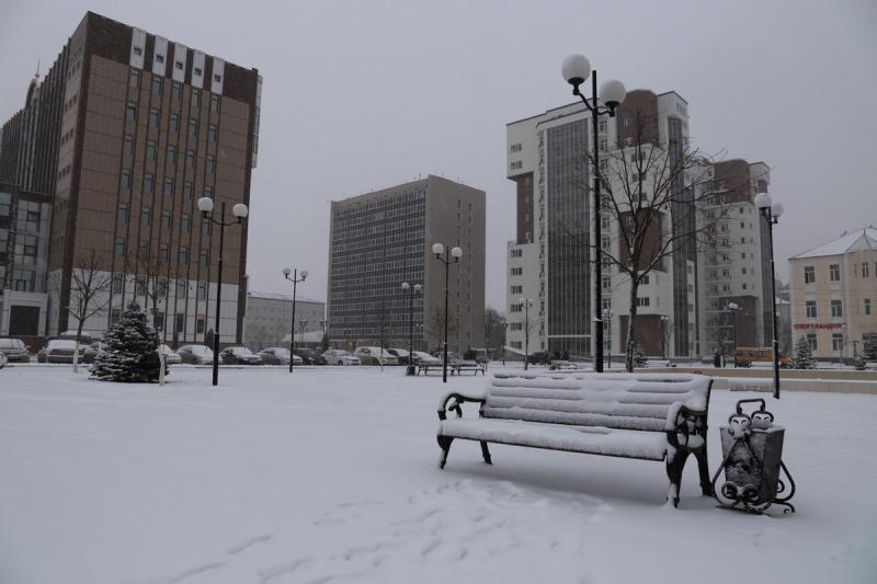 Один из самых теплых регионов страны запорошило снегом