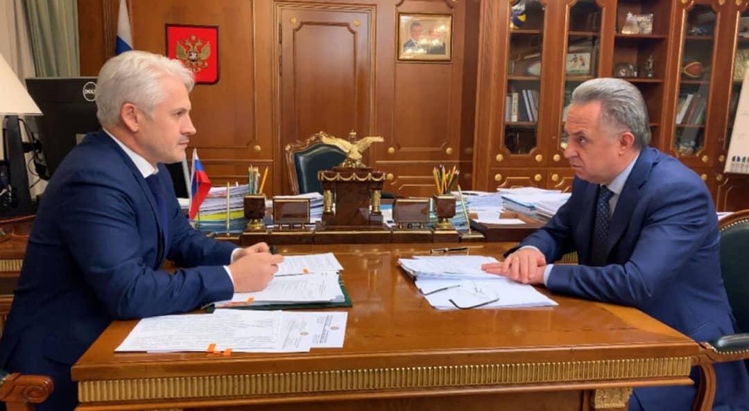 ЧЕЧНЯ. Муслим Хучиев обсудил с Виталием Мутко вопросы социально-экономического развития ЧР