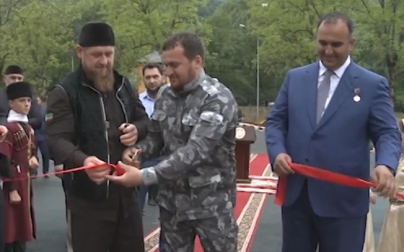 Рамзан Кадыров на открытии детского спортивно-оздоровительного л
